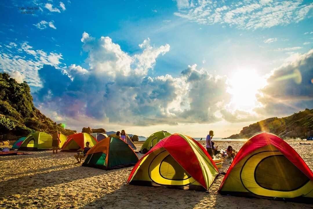 cắm trại ở bãi nước ngọt ninh thuận