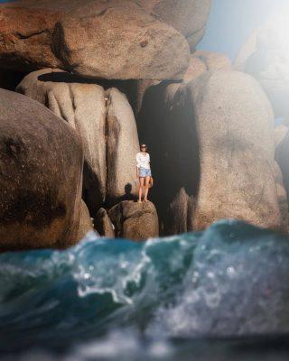 Checkin những phiến đá khổng lồ tại bãi Tràng