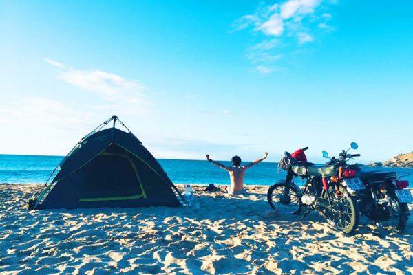 Cắm trại tại bãi Tràng Mũi Dinh