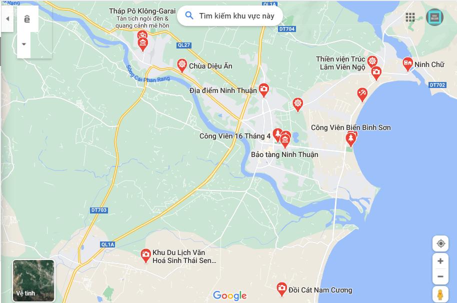 bản đồ du lịch ninh thuận